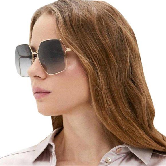 gucci gg0817 eyewear oval frame sunglasses